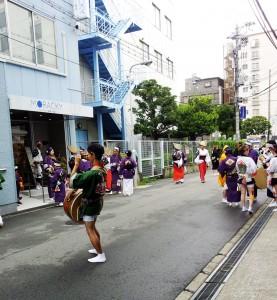モラッキー道場にて阿波踊り教室が開催