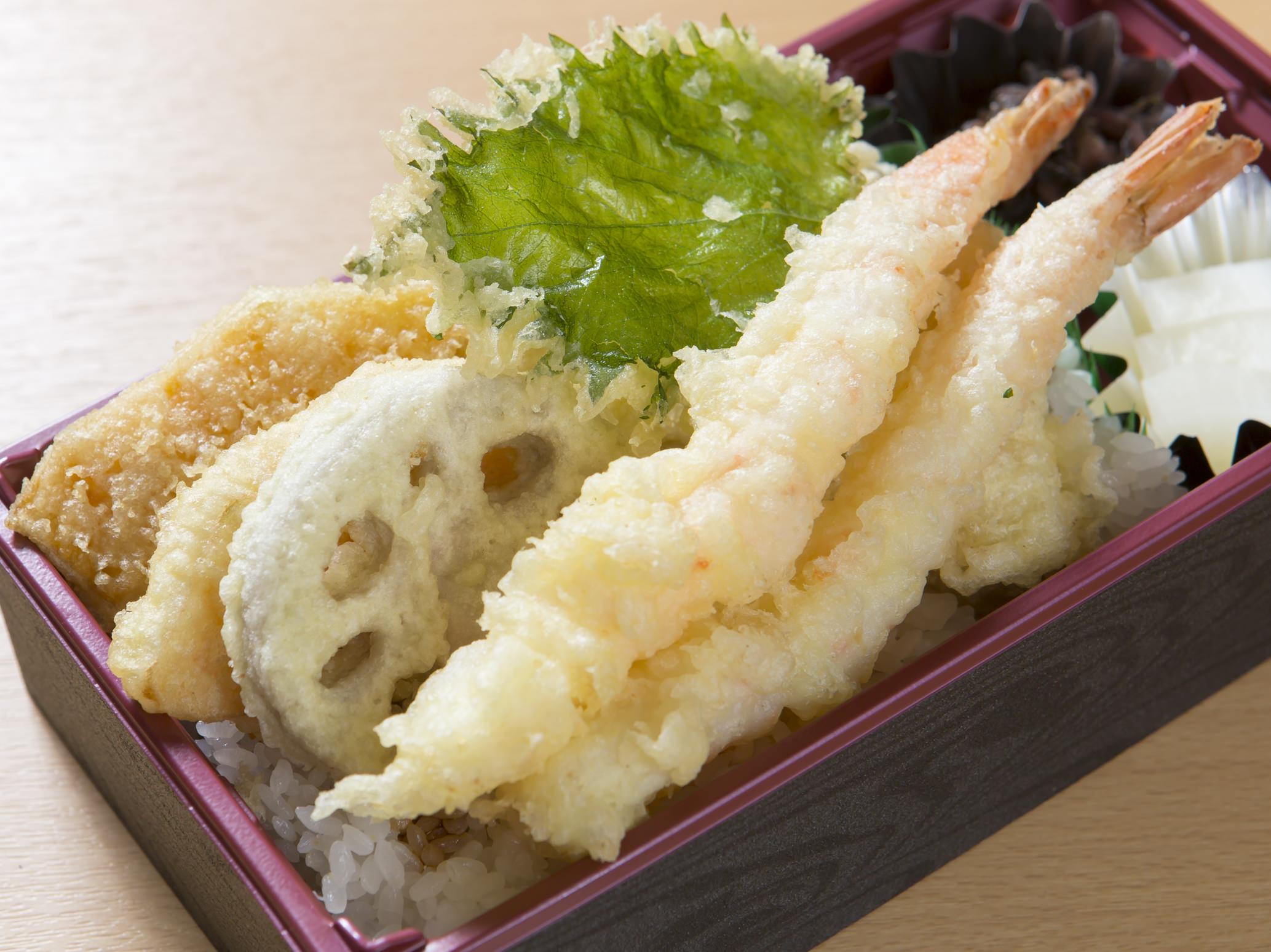 大海老と野菜の天丼